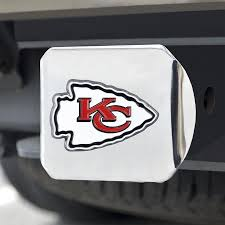 Fanmats Kansas City Chiefs 3d Metal Color Emblem On Chrome Hitch Cover In The Exterior Car Accessories Department At Lowes Com