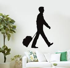 Wall Decal Airport Station Travel Shop Bags Vinyl Stickers Wall Stickers Aliexpress