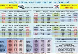 Bilecik Hizli Tren Saatleri Bilet Fiyatlari | RayHaber
