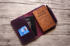 personalized passport holder leather