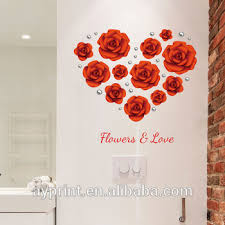 Sk9173 Decor Wall Sticker Love Flower Red Rose Pearl Creativity Diy Home Bedroom Tv Decorative Wall Decal View Home Decor Rose Sk Product Details From Zhejiang Shenao Technology Co Ltd On