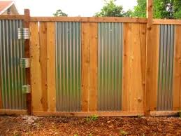 Bedroom Splendid Privacy Fence Designs Wood And Metal Inserts Fence Design Corrugated Metal Fence Front Yard Fence