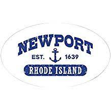 Cafepress Newport Rhode Island Oval Bumper Sticker Euro Oval Car Decal Bumper Stickers Car Decals Newport Rhode Island