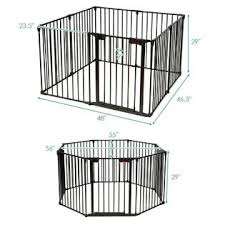 Costway 8 Panel Baby Safe Metal Gate Play Yard Pet Fence Barrier Wall Mount Adjustable