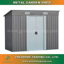 metal storage shed pent roof 4 x8 ft