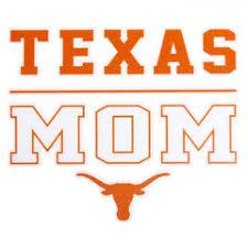 Longhorn Block Mom Decal 4 X 4 University Co Op