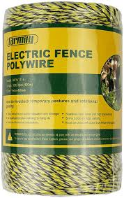 Amazon Com Farmily Portable Electric Fence Polywire 1312 Feet 400 Meter 6 Conductor Yellow And Black Color Garden Outdoor