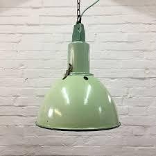 green enamel pendant lamp