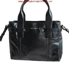 black leather embossed snakesin satchel