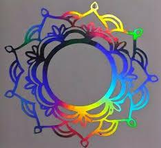 Holographic Rainbow Mandala Car Window Helmet Mug Tumbler Decal Free Shipping Ebay