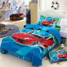 race cars kids boys cartoon bedding set