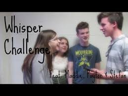 Whisper Challenge with Maddie, Payton, & Stefan - Kelly Grace - YouTube