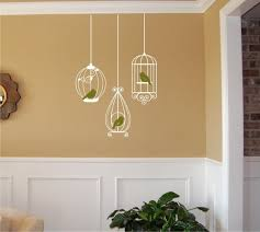 Birdcages With Birds Wall Decal Birdcage Wall Decal Etsy