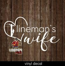 Lineman S Wife Vinyl Car Decal Linewife Linemen Heart Etsy