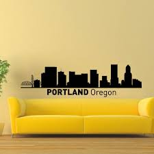 Shop Portland Oregon Skyline City Silhouette Vinyl Wall Art Decal Sticker Overstock 10425745