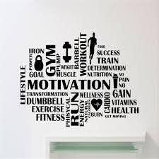 Gym Motivational Words Wall Decal Fitness Sport Wall Sticker Home Decor Wall Art Wall Stickers Vinyl Decals Home Decorations Stickers Home Decor Wall Stickers Home Decorvinyl Decal Aliexpress