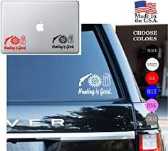 Amazon Com Supernatural Hunting Is Good Pistol Anti Possession Series Vinyl Decal Sticker Car Window Laptop Skin Wall Mac 11 Inches Red Arts Crafts Sewing