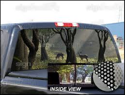 Motors P230 Deer Hunting Rear Window Tint Graphic Decal Wrap Back Pickup Graphics Car Truck Graphics Decals