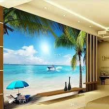 Arkadi 3d Beach Seascape View Wall Stickers Art Mural Decal Wallpaper Living Bedroom Hallway Childrens Rooms Love Wallpaper Love Wallpapers From Andyhome168 17 14 Dhgate Com