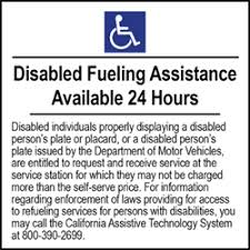 Disabled Fueling Assistance Labels Or Window Decals