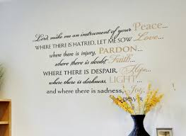 St Francis Of Assisi Prayer Wall Decal