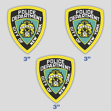 Amazon Com Set Of 3 Nypd Police Sticker Decal Police Department City Of New York Vinyl For Car Truck Window Laptop 3 In Kitchen Dining