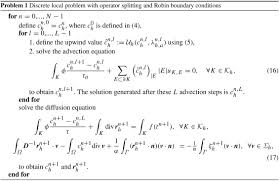 convection diffusion equation 2d