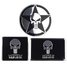 Car Styling 3d The Punisher Sticker Aluminum Emblem Badge Cool Car Trunk Metal Decals With Laptop Sticker Decoration Accessories Buy At The Price Of 1 17 In Aliexpress Com Imall Com