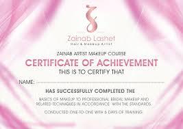 freelance makeup artist certificate
