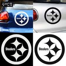 Pittsburgh Steelers Auto Car Bumper Decal Sticker 7 X 7 Exterior Accessories Bumper Stickers Decals Magnets