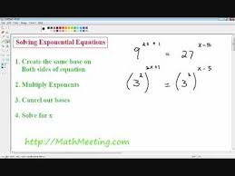 solving exponential equations you