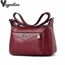women soft pu leather messenger bag