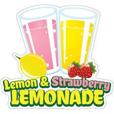 Lemon And Strawberry Lemonade 24 Decal Concession Stand Food Truck Sticker Sold By Vision Graphic Rakuten Com Shop