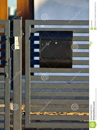 Mailbox On A House Fence Stock Photo Image Of Closeup 53181054