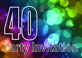 40 Anos Reversible Invitaciones De La Fiesta De Cumpleanos Del