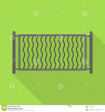 Small Metal Fence Icon Flat Style Stock Vector Illustration Of Gothic Deco 117149101