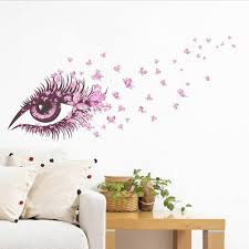 Removable Pink Eye Wall Sticker Mural Decal Home Room Decor Vinyl Home Decals Home Decals For Decoration From Elegant356 5 Dhgate Com