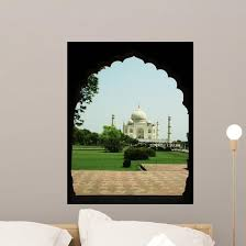 Taj Mahal India Wall Decal Wallmonkeys Com
