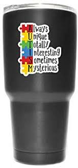 Amazon Com More Shiz Autism Always Unique Totally Interesting Sometimes Mysterious 2 Pack Vinyl Decal Sticker Car Truck Van Suv Window Wall Cup Laptop Two 3 Inch Decals Mks1034 Automotive