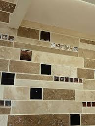 brown glass mix kitchen backsplash tile