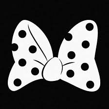 Amazon Com Minnie S Bow White Vinyl Car Window Decal Sticker Automotive