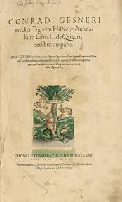 Resultado de imagen de la popular enciclopedia de Gesner