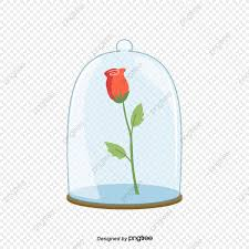 وردة في زجاجة الورود الحمراء زجاج زجاجات ختم Png وملف Psd