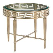 greek key end table luxe home company