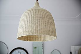 summery natural fiber pendant lights