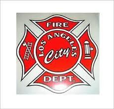 Lafd Maltese Cross Car Window Decal Los Angeles Fire Dept Sticker Firefighter Ebay