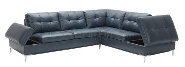 leonardo sectional sofa in blue leather