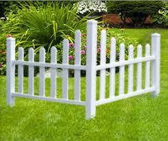 Corner Fence Garden Tree White Picket Fencing Lawn Edging Home Yard Decoration 718569026835 Ebay