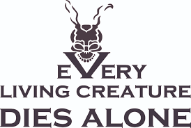 Every Living Creature Dies Alone 19 X 30 Living Room Bedroom Removable Donnie Darko Sci Fi Thriller Movie Wall Decal Quotes Decoration Sticker Vinyl Home Art Frank The Rabbit Decor Design