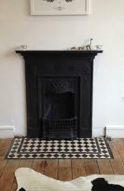 victorian style black white tiles